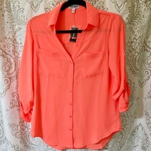 5ef6bbb46ef0 Express Tops - Neon Orange Express Portofino Shirt
